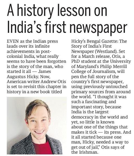 Andrew Otis Mid Day India Newspaper
