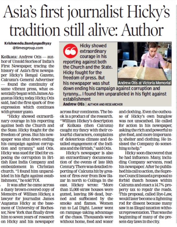 2018.06.23 Times of India interview Andrew Otis